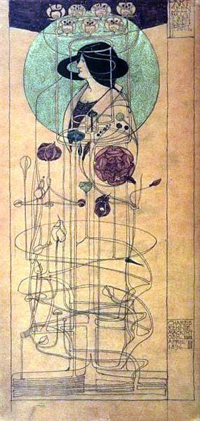 Part Seen Part Imagined, 1896 - Чарльз Ренні Макінтош