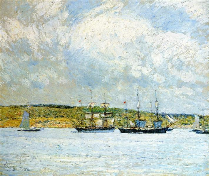 A Parade of Boats, 1894 - 1895 - Childe Hassam