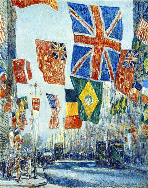 Avenue of the Allies, 1918 - Childe Hassam