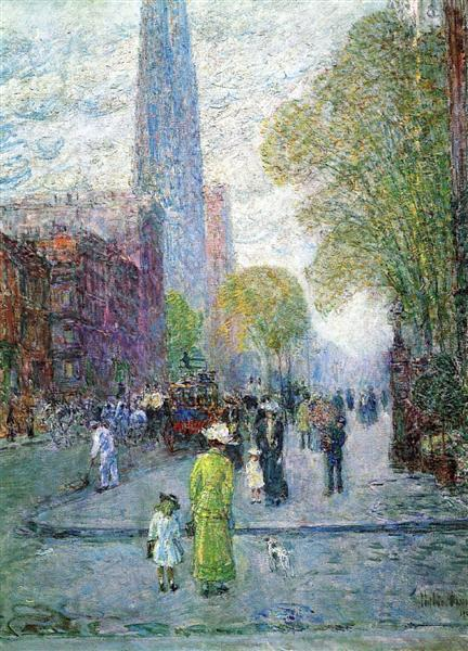 Cathedral Spires, Spring Morning, 1900 - Childe Hassam