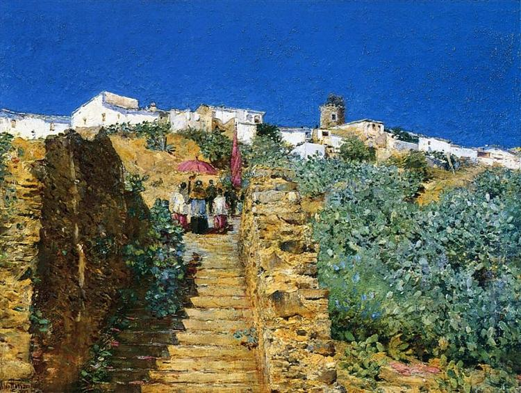 Church Procession, Spanish Steps, 1883 - Childe Hassam