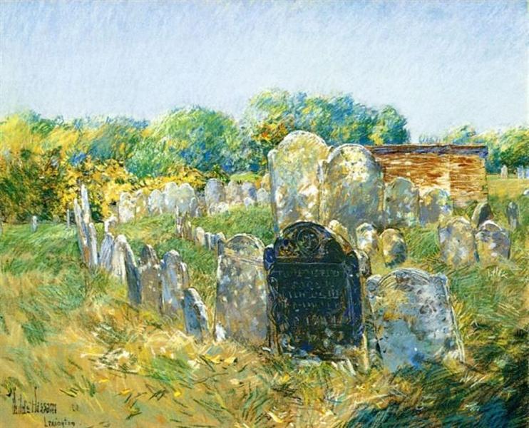Colonial Graveyard at Lexington, 1891 - Childe Hassam