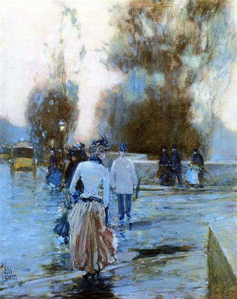 Dock of Tuileries, 1888 - 1889 - Childe Hassam