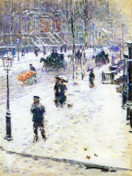 Fifth Avenue in Winter, 1901 - Childe Hassam