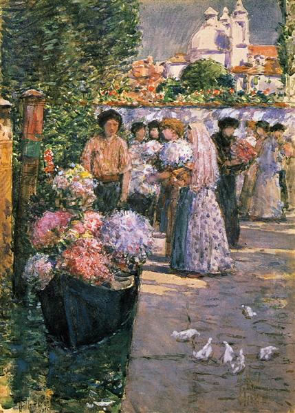 Flower Market, 1895 - Childe Hassam