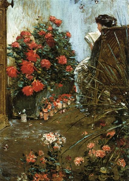In the Garden at Villers-le-Bel, 1889 - Childe Hassam