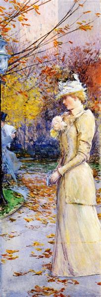 Indian Summer in Madison Square, 1892 - Childe Hassam