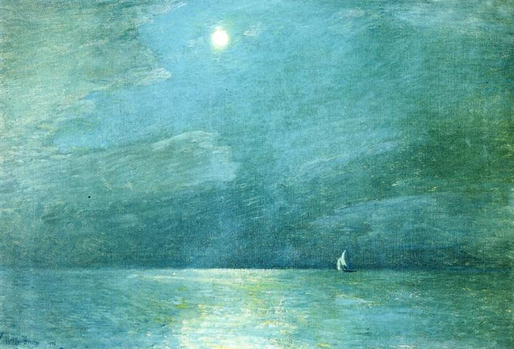 Moonlight on the Sound, 1906 - Childe Hassam