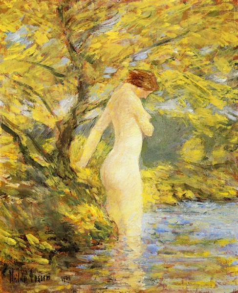 Numph Bathing, 1904 - Childe Hassam
