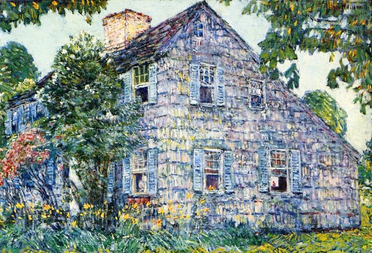 Old House, East Hampton, 1917 - Childe Hassam