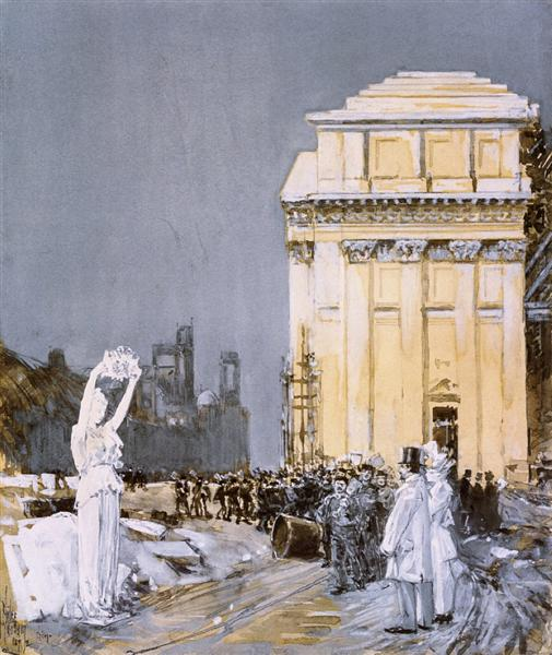 Scene at the World's Columbian Exposition, Chicago, Illinois, 1892 - Childe Hassam