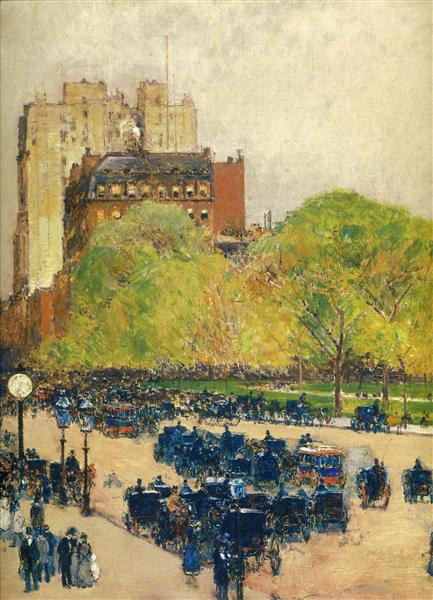 Spring Morning in the Heart of the City (aka Madison Square, New York) - Childe Hassam
