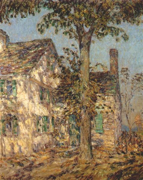 Sunlight on an Old House, Putnam - Childe Hassam