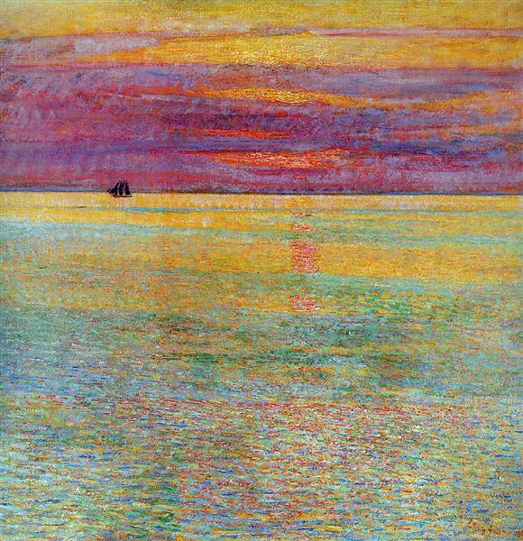 Sunset at Sea, 1911 - Childe Hassam