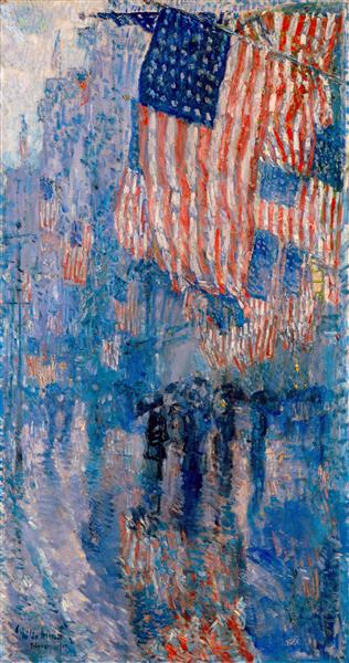 The Avenue in the Rain, 1917 - Childe Hassam