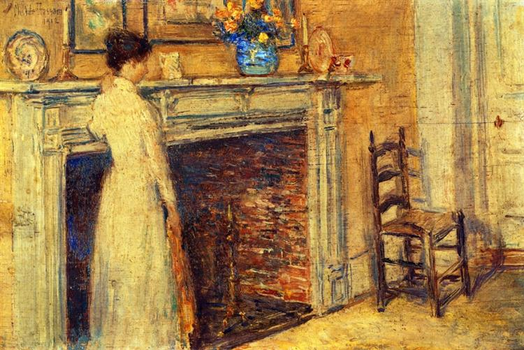 The Fireplace, 1912 - Childe Hassam