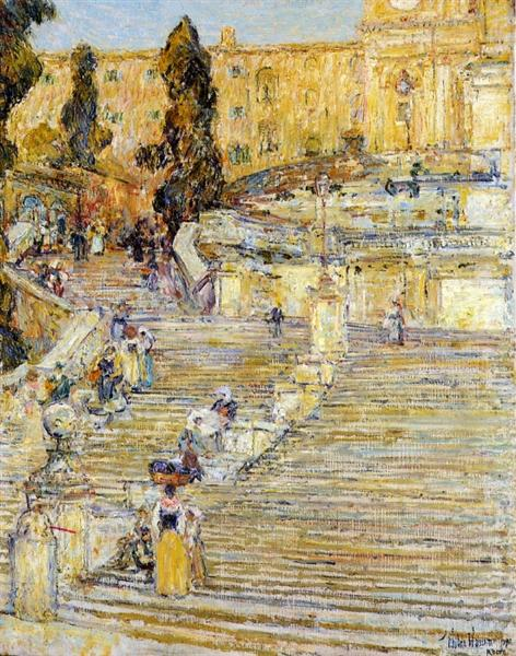 The Spanish Steps, Rome, 1897 - Childe Hassam