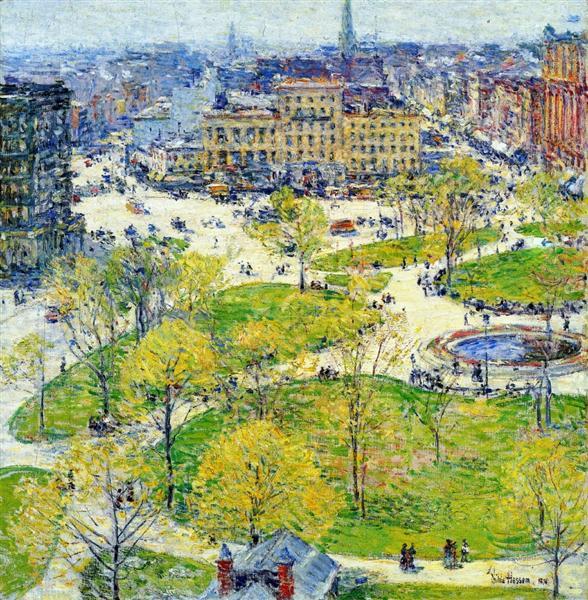 Union Square in Spring, 1896 - Childe Hassam
