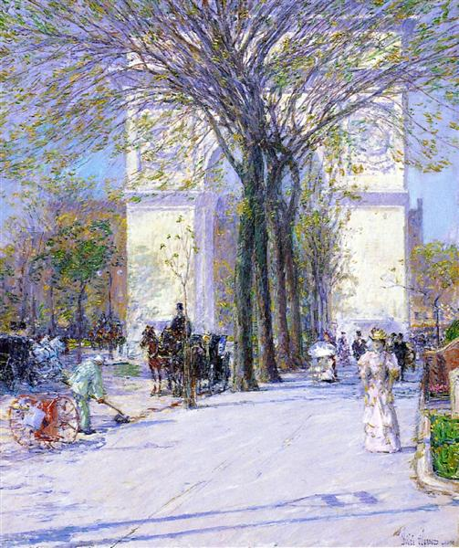 Washington Arch, Spring, 1893 - Childe Hassam