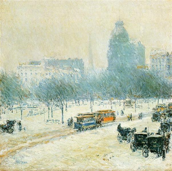 Winter in Union Square, 1892 - Childe Hassam