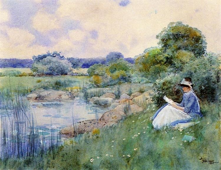Woman Reading, 1885 - Childe Hassam
