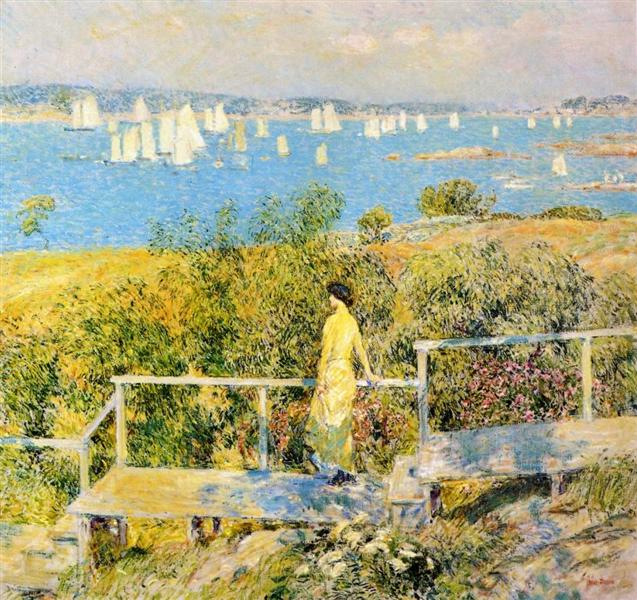 Yachts, Gloucester, 1889 - Childe Hassam