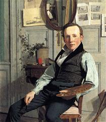 Portrait of Frederik Hansen Sødring - Christen Købke