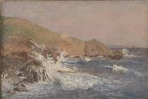 Rough Sea on a Rocky Coast - Christen Købke