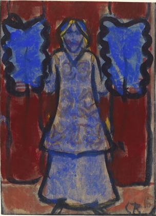 Blue Fan Dancer, 1916