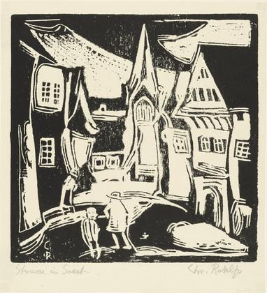 Street in Soest, 1911 - Christian Rohlfs