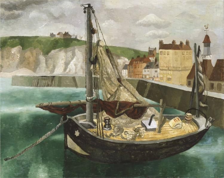 A Fishing Boat in Dieppe Harbour - Christopher Wood