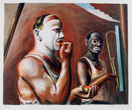Clowns Making Up, 1979 - Clarence Holbrook Carter