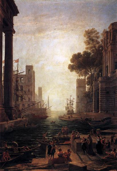Embarkation of St. Paula Romana at Ostia, c.1638 - Claude Lorrain