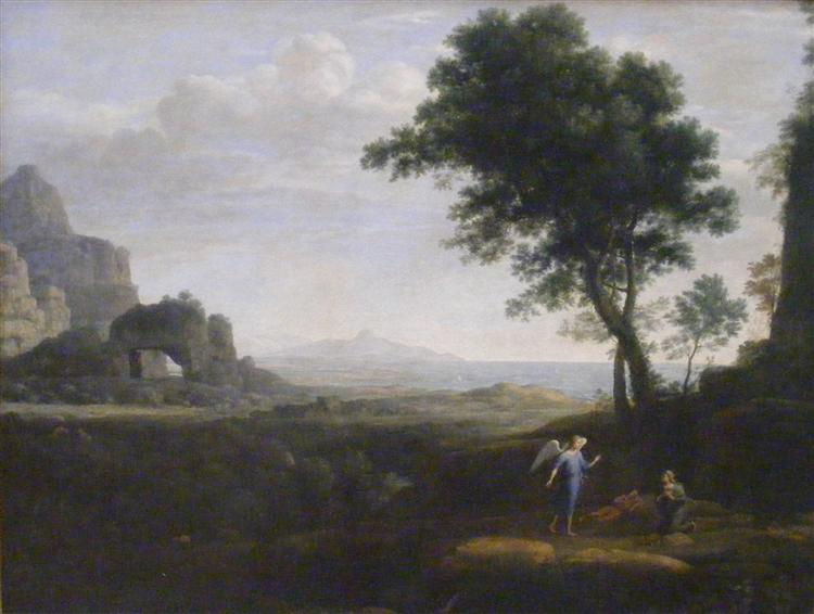 Hagar and Ismael in the desert, 1668 - Клод Лоррен