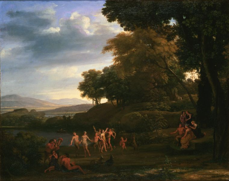Landscape With Dancing Satyrs and Nymphs - Claude Lorrain ...