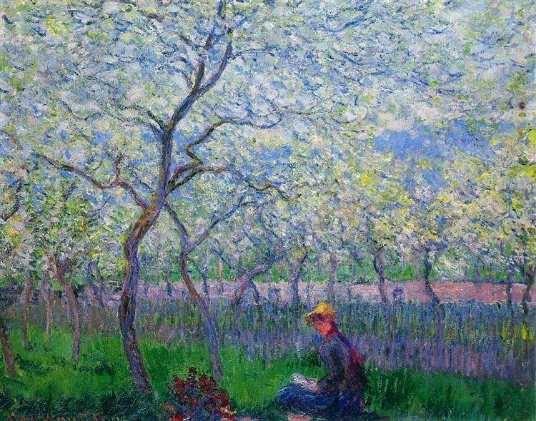 An Orchard in Spring, 1886 - Claude Monet
