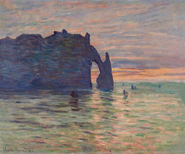 Etretat, Sunset, 1883 - Claude Monet