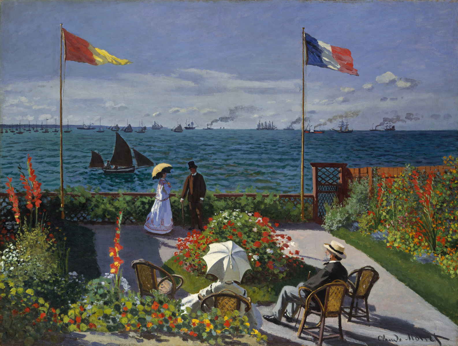 garden at sainte adresse claude monet