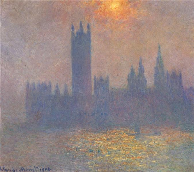 Houses of Parliament, Effect of Sunlight in the Fog, 1904 - Claude Monet