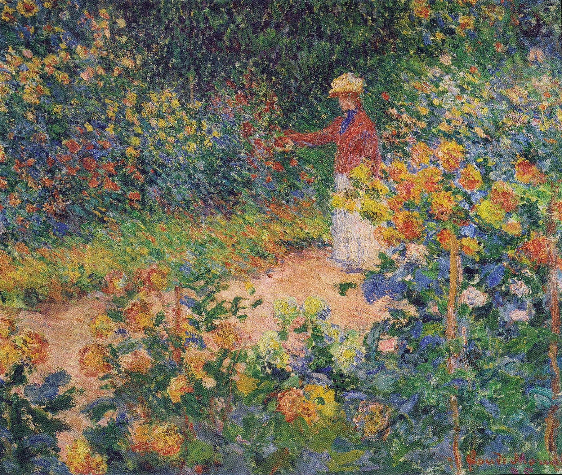 In the Garden 1895 Claude Monet WikiArtorg