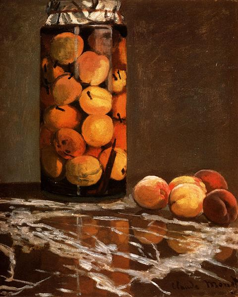 Jar Of Peaches, 1866 - Claude Monet