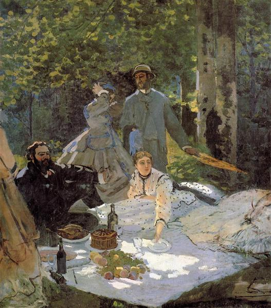 Lunch on the Grass (central panel), 1865 - Claude Monet