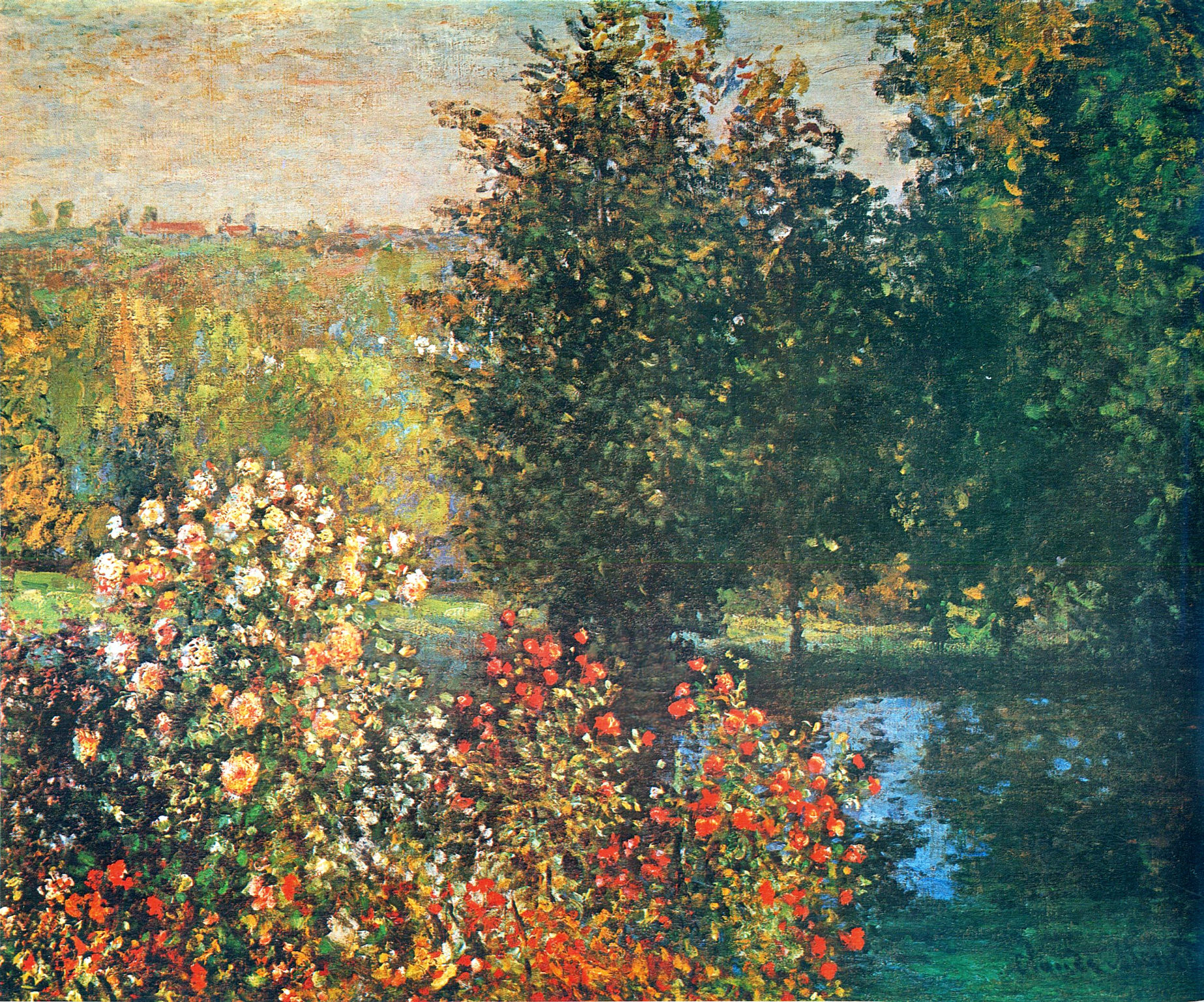 roses in the hoshede s garden at montregon claude monet encyclopedia of visual. Black Bedroom Furniture Sets. Home Design Ideas