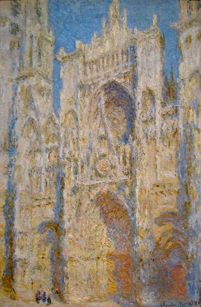 Rouen Cathedral, West Facade, Sunlight, 1894 - Claude Monet