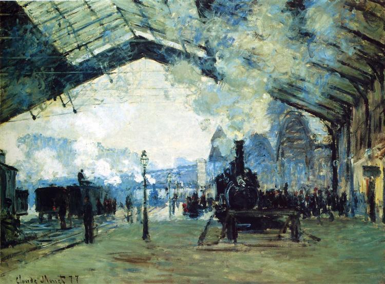 Saint-Lazare Gare,  Normandy Train, 1887 - Claude Monet