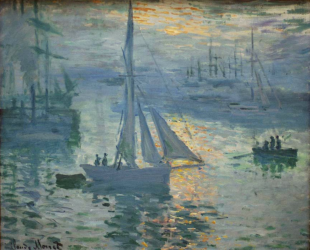 Impressionism Monet Sunrise Sunrise, The Sea, 1873...