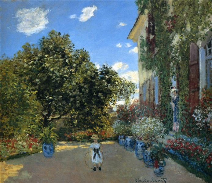 The Artist's House at Argenteuil, 1873 - Claude Monet