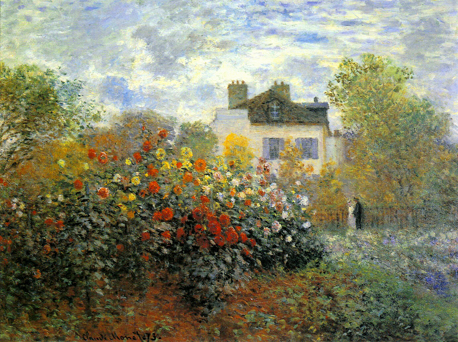 The garden of monet at argenteuil 1873 claude monet for Claude monet impressionist paintings