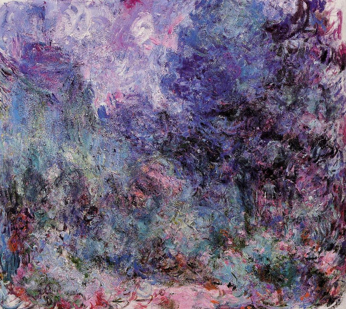 the house seen from the rose garden 3 1922 1924 claude monet. Black Bedroom Furniture Sets. Home Design Ideas