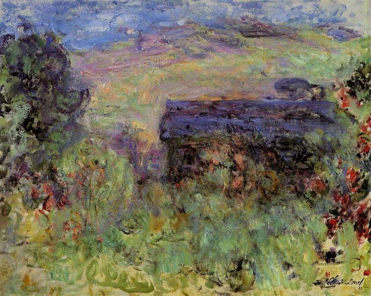 The House Seen through the Roses, 1925 - Claude Monet